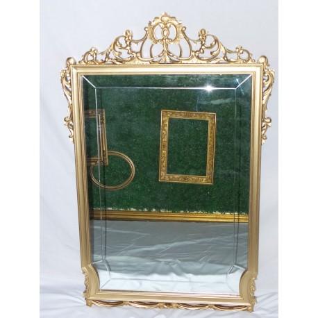 Espejo de madera ovalado