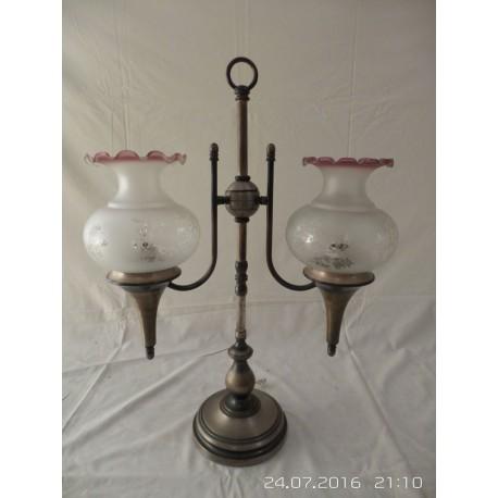 Lampada clásica de mesa con bolas de cristal
