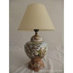 Lampara cerámica dibujo chino