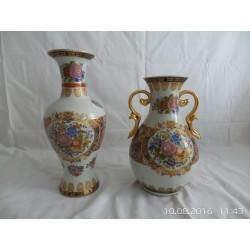Jarrones chinos decorados a mano