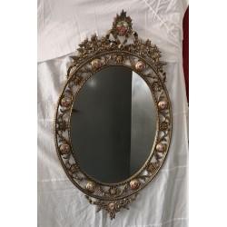 Espejo de bronce vintage
