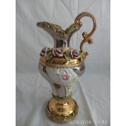 Jarrón ceramica decorada alquilar