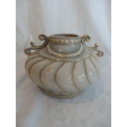 Jarrón de cerámica bajo