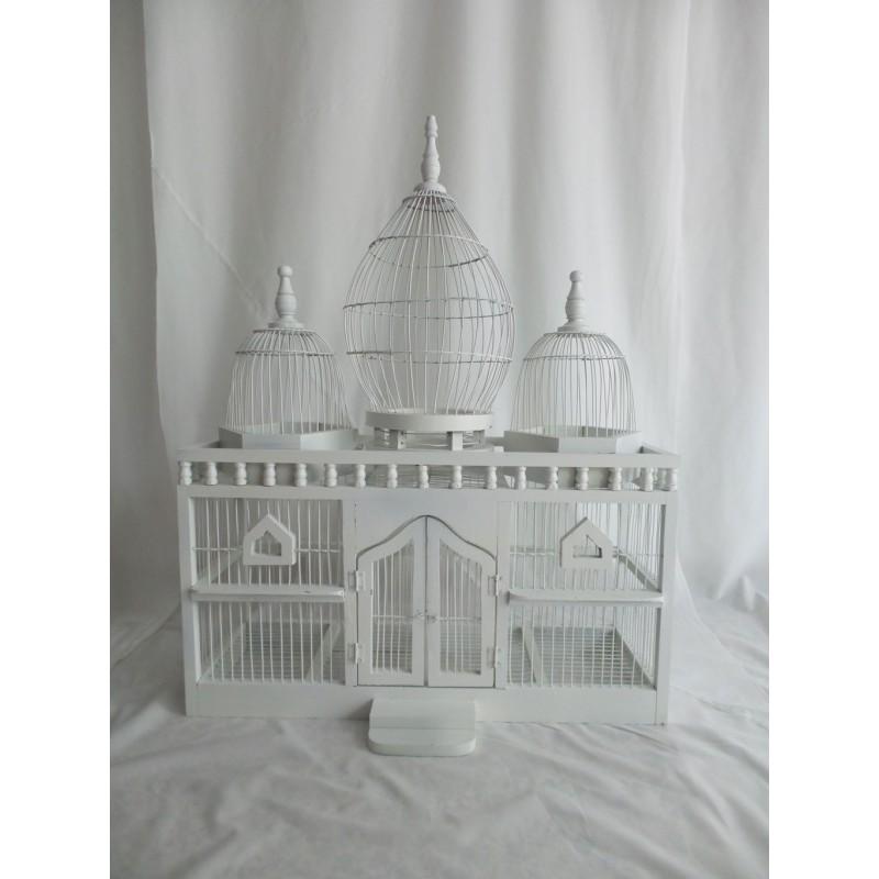 Jaula blanca decoracin 3 estancias