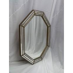 Espejo de madera y metal