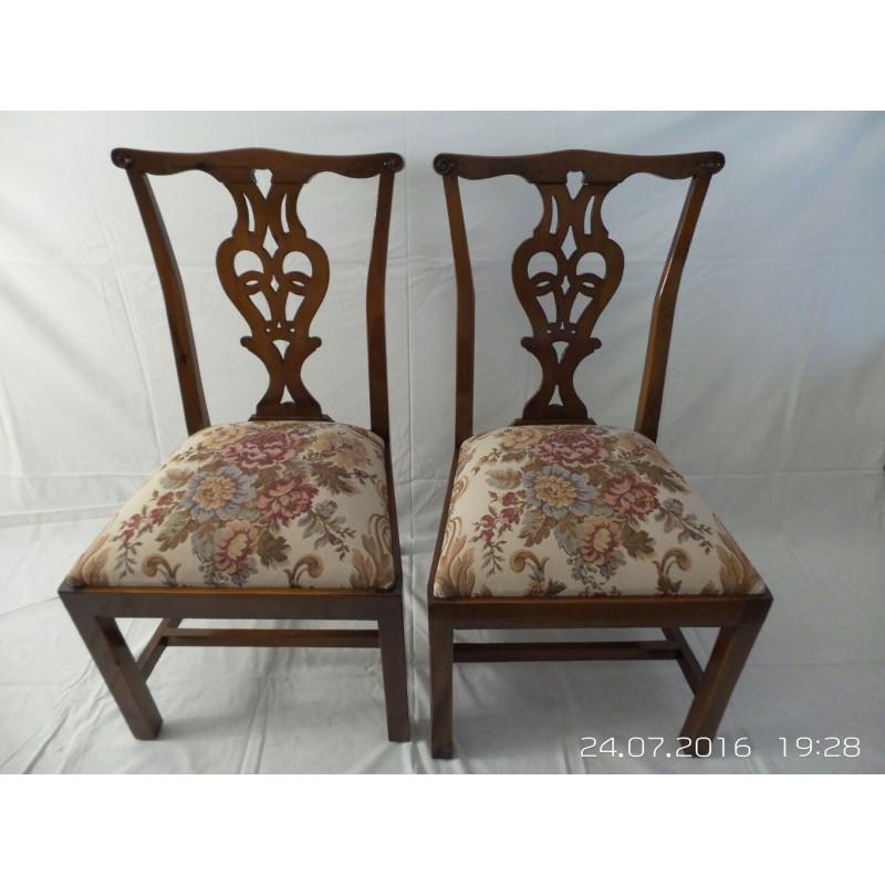 Sillas cl sicas barnizadas for Sillas tapizadas clasicas