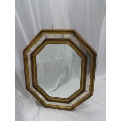 Espejo forma octogonal de madera