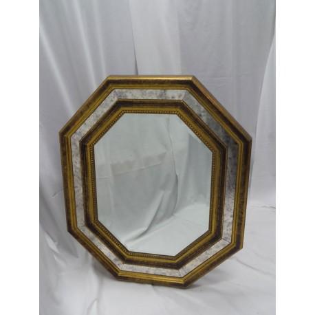 Espejo marco de madera y cristal for Espejo marco cristal
