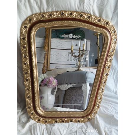 Espejo antiguo dorado biselado con asido