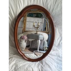 Espejo de madera, cristal biselado