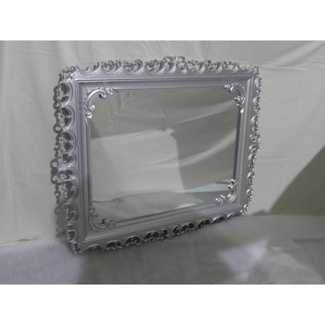 Espejo restaurado de madera tallada